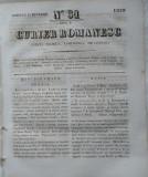 Curier romanesc , gazeta politica , comerciala si literara , nr. 31 din 1839 , prima gazeta romaneasca