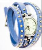 Ceas Dame Vintage Antic Tip Bratara Elegant Piele Naturala CALITATE 5 Culori, Quartz, Otel