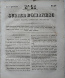 Curier romanesc , gazeta politica , comerciala si literara , nr. 25 din 1839 , prima gazeta romaneasca