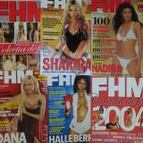 Vand lot 15 reviste FHM complete, stare ca noi + bonus - Revista barbati