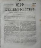 Curier romanesc , gazeta politica , comerciala si literara , nr. 30 din 1839 , prima gazeta romaneasca
