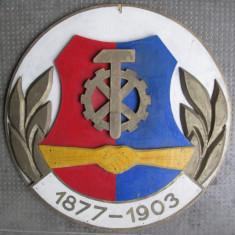 Panou de lemn din perioada comunista RSR 1877 - 1903 - Afis