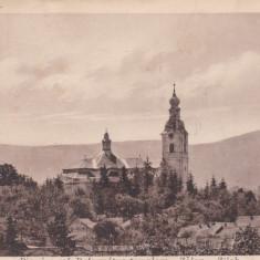 CARTE POSTALA ZALAU Biserica ref.- Reformatus templom                         Circulata 1940, Printata