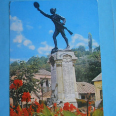 HOPCT14532 ROMANIA SLATINA -STATUIA ECATERINA TEODOROIU - [ CIRCULATA] - Carte Postala Muntenia dupa 1918