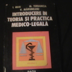 INTRODUCEREA IN TEORIA SI PRACTICA MEDICO LEGALA-I. QUAI-M. TERBANUCT- - Carti Mecanica