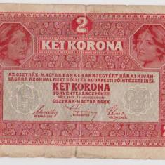 Bancnota Austro - Ungaria 2 Korona, Coroana 1917 Supratipar