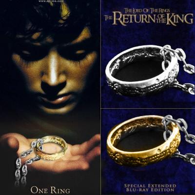 Pandantiv Lord Of The Rings The Return Of The King Inel Silver Gold | Argintiu, Auriu | Calitate Garantata | Colier Serial | PESTE 2100 CALIFICATIVE foto