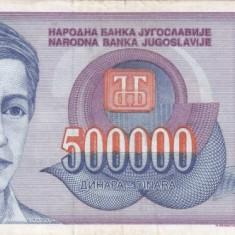 IUGOSLAVIA 500.000 dinara 1993 VF!!! - bancnota europa