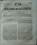 Curier romanesc , gazeta politica , comerciala si literara , nr. 55 din 1839 , prima gazeta romaneasca