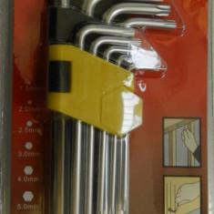 SET CHEI TORX 9 PIESE CU CAP ROTUND 1.5mm - 10mm | GARANTIE - Surubelnita/Inbus