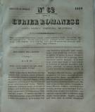 Curier romanesc , gazeta politica , comerciala si literara , nr. 62 din 1839 , prima gazeta romaneasca