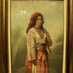 CAROL POPP DE SATUARY - TANARA IN COSTUM NATIONAL - Pictor roman