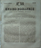 Curier romanesc , gazeta politica , comerciala si literara , nr. 56 din 1839 , prima gazeta romaneasca