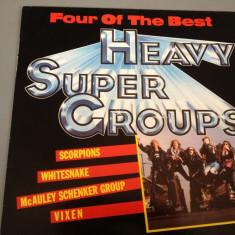 HEAVY SUPER GROUPS - selectii cu : SCORPIONS, VIXEN, WHITESNAKE, Mc SCHENKER GROUP.(1988/EMI REC)- DISC VINIL/PICK-UP/VINYL - made RFG - Muzica Rock emi records