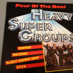 HEAVY SUPER GROUPS - selectii cu : SCORPIONS, VIXEN, WHITESNAKE, Mc SCHENKER GROUP.(1988/EMI REC)- DISC VINIL/PICK-UP/VINYL - made RFG - Muzica Rock emi records