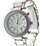 Ceas dama model stil Michael Kors argintiu cristale superb cutie cadou, Elegant, Quartz, Analog