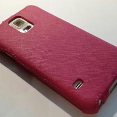 Husa flip Hama pentru Samsung Galaxy S5 - Husa Telefon Samsung, Roz, Polyester, Cu clapeta