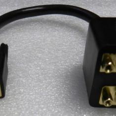 Cablu Y splitter DVI to VGA + DVI - 1x DVI tata la 1x DVI mama + 1x VGA mama - 24cm - NOU