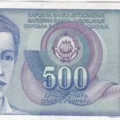 IUGOSLAVIA 500 dinara 1990 VF+!!! - bancnota europa