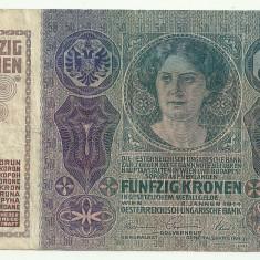 AUSTRIA AUSTRO-UNGARIA 50 KRONEN KORONA COROANE 1914 [2] P-15