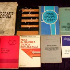 Ministerul Apararii Nationale - Lot rar 8 carti de uz intern pentru ofiteri din armata RPR / RSR, ideologie politica, militara, propaganda, M.Ap.N.
