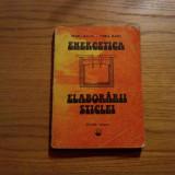 ENERGETICA ELABORARII STICLEI  --  Petru Balta, Dorel Radu --  1985, 293 p.