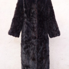 Haina din blana naturala de nurca, culoare mahon - haina de blana