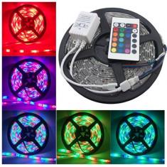 Banda LED multicolora cu telecomanda si controler 300 leduri smd 3528