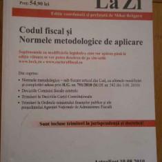 Codul Fiscal Si Normele Metodologice De Aplicare - Colectiv, 279654 - Carte Jurisprudenta