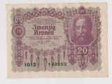Austro - Ungaria 20 Koronen, Coroane, Koroane 1922 ( 4 )