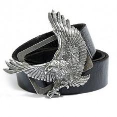 Curea Guess Jeans Eagle Buckle Belt S M L - Curea Barbati Guess, Culoare: Negru