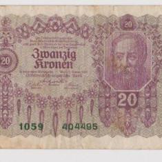 Austro - Ungaria 20 Koronen, Coroane, Koroane 1922