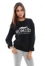123123Pulover Negru Casual Fashion HOMIES Dama Maneca Lunga Unisex CALITATE
