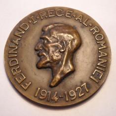 Medalie Unifata Regele Ferdinand I Al Romaniei 1914 - 1927