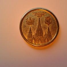 Placheta spaniola placata cu aur din 1997, de colectie.REDUCERE - Jubiliare