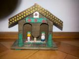 Barometru rustic german ,decorativ,baiat -fata