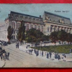 Carte postala - Bucuresti - Palatul Justitiei - Carte Postala Banat dupa 1918