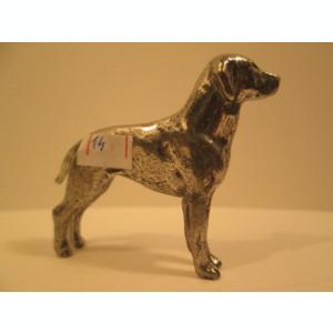 14. Miniatura de metal masiv caine de rasa , mica figurina catel cu detalii foarte reusite
