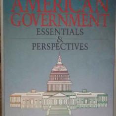American Government Essentiales & Perspectives - J.e. Holmes M.j. Engelhardt R.e. Elder, 276087 - Carte de vanzari
