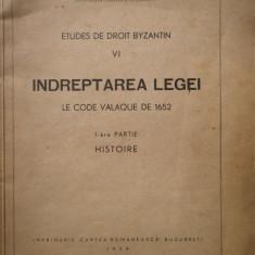 Indreptarea Legei Le Code Valaque De 1652 - C. A. Spulber ,308279