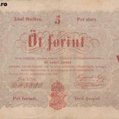 UNGARIA 5 forint 1848 VF-/VF!!! - bancnota europa