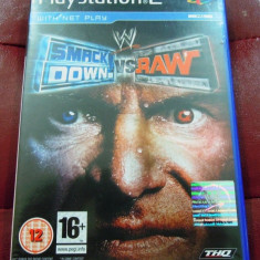 Joc WWE Smack Down vs Raw, PS2, original, alte sute de jocuri! - Jocuri PS2 Thq, Sporturi, 18+, Multiplayer