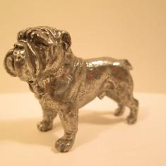 12. Miniatura de metal masiv caine de rasa , mica figurina catel cu detalii foarte reusite