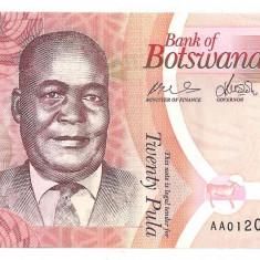 BOTSWANA 20 PULA 2009 UNC - bancnota africa