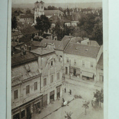 LUGOJ - ZONA CENTRALA - MAGAZINE SI VANZATOR AMBULANT DE INGHETATA - Carte Postala Banat 1904-1918