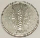 G5. GERMANIA RDG DDR 10 PFENNIG 1950 A, 1 g., Aluminum **, Europa