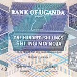Bancnota Uganda 100 Shilingi 1988 - P31b UNC - bancnota africa