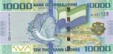 Bancnota Sierra Leone 10.000 Leones 2010 - P33 UNC (valoare catalog $40)