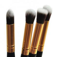 Pensule Machiaj - 4 Pensule MAANGE - Model Cu Auriu - Pensula machiaj