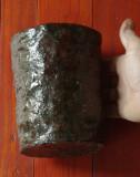 Vaza / sticla masiva din ceramica realizata manual - decor - model deosebit !!!